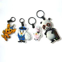 La promozione personalizzata modella 3D il PVC molle Keychain, anello portachiavi del PVC del LED, supporto chiave della torcia elettrica