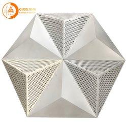 Perfuradas 3D Triangle Painel de alumínio Construção Metálica decorativos forro de teto