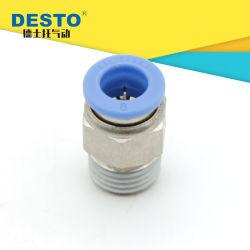 Acoplamento Rápido de latão Nickel-Plated Conexão Ar componentes pneumáticos PC8-02