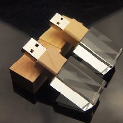 صنع وفقا لطلب الزّبون علامة تجاريّة زجاجيّة خشبيّة بلورة [أوسب] عصا برق إدارة وحدة دفع [8غب] [أوسب] 3.0