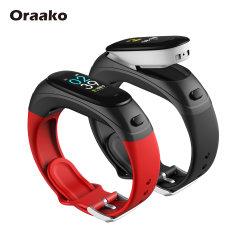 Dropshipping en stock Android Ios sans fil Bluetooth Health Watch bracelets de la bande de conditionnement physique avec écran OLED Smart Watch Bracelet