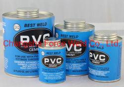 고품질 고온 판매 PVC/UPVC/CPVC 파이프 시멘트 글루 용매 시멘트 투명/그레이/목적/블루/오렌지 색상의 접착제