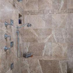 O granito/lajes de pedra natural quartzito Emperador castanha clara para a parede do piso em mármore de banho decoração em sua bancada de cozinha