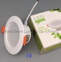 4W de alta calidad 6W, levantó la sesión en el techo de 120 grados de la economía de haz de luz LED de la caja de PBT Buen Precio, luz tenue con 2 años de garantía