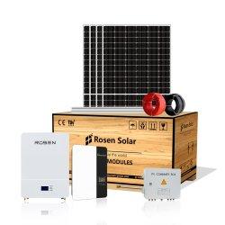 Sistema di alimentazione a batteria solare ibrida da 5 kw 10 kwh Rosen su rete Prezzo fuori rete