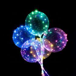 Balão de Bobo personalizados de alta qualidade 18/20 polegadas colorido balão LED intermitente Balon Decoração de casamento festa de Ano Novo Globos
