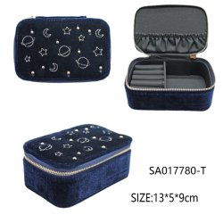 Frauen-Mädchen-Organisator-Ohrring-Ohr-Stift-Samt-Schmucksache-verpackengeschenk-Kasten-Arbeitsweg-Schmucksache-Kasten-Reißverschluss-Kasten-Speicher