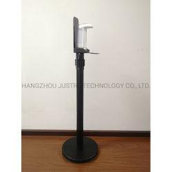 L'isolement escamotable de la courroie d'avertissement de contrôle de la foule distributeur automatique de Hand Sanitizer statif au sol