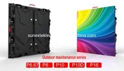 Outdoor Druckguss Aluminium Wasserdicht hinten Service IP65 leicht Gewicht Dünne P5 P6,667 P8 P10 High Brightness Videowand kommerziell LED-Display