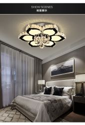 Pendentシャンデリアの軽い水晶吊り下げ式のシャンデリアの贅沢な天井