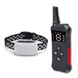 Resistente al agua caliente de Venta a distancia de 800m de la formación de perro Perro Collar Collar de choque con control remoto para el comercio al por mayor