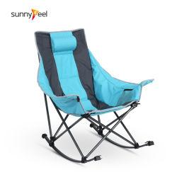 Cadeira Dobrável almofadada cadeira de balanço Dobrável Cadeira de Campismo de Luxo