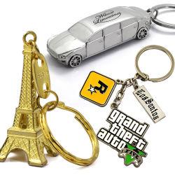 Keychain Hersteller-förderndes Metallfertigkeit-Geschenk-Zink-Legierungs-Andenken-Dekoration-Decklack-Metallkundenspezifische Schlüsselkette für Förderung-Geschenke
