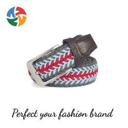 Hot Selling Prezzo più conveniente la moda personalizzata è cinghia intrecciata uomini′ S cinghie elastiche in tessuto cinghia intrecciata uomo