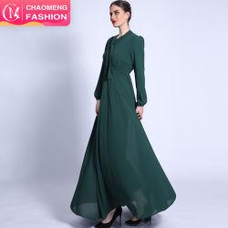 새로운 도착 플로팅 LED 스프링 서머 드레스 쉬폰 이슬람 맥시 드레스