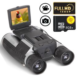 2020 Mejor 1080p Full HD de microscopio digital de 5MP cámara térmica Telescopio Binocular 12X32 con una cámara digital