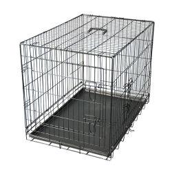 Filo per allevamento All in One Folding Dog Cat Crate Cage Camera per cani in metallo con porta-animali divisori
