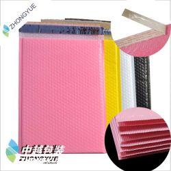 공장에 의하여 주문을 받아서 만들어지는 인쇄된 기포 많은 CO 내밀린 필름 거품 봉투 우송자 부대에 의하여 덧대지는 플라스틱 고급 충격