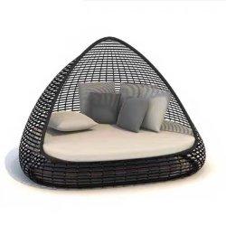 Mobiliário de exterior cama lounge Piscina Chaise Beach Sofá-Cama Raatan Sofá Jardim Sofa Hotel Sofá