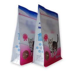 Kundenspezifische flache Unterseiten-Stützblech-Seiten, die Beutel für Nahrung- für Haustierekatze packen