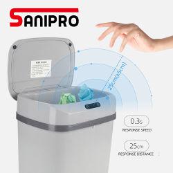 Sanipro Büro-Ausgangsküche-Schlafzimmer-Badezimmer automatischer Touchless Infrarotbewegungs-Fühler-Abfalleimer-überschüssiges Sortierfach-Küche-Abfalleimer