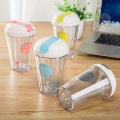 كوب بلاستيكي مع سترو بتصميم جديد وشعار مخصص 16 أونصة
