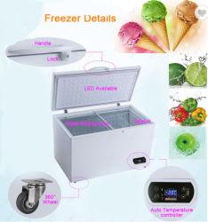 Oberseite-geöffnete doppelte Tür-Handelsbrust-Tiefkühltruhe 400L/500L/600L für niedrige Temperatur-horizontale Brust-Gefriermaschine