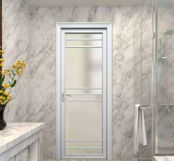 Insonorisées étanche moderne en bois Portes intérieures à battants en aluminium de couleur pour salle de bain WC YG-T005