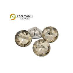 가구 장식용 유리 크리스탈 버튼 도매 다이아몬드 소파 버튼
