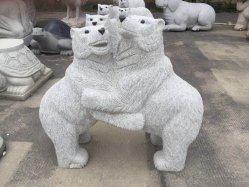 Натуральный камень серый гранит несут скульптура SF-ST-053 для ландшафтного сада