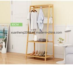 La mensola d'attaccatura piegante di bambù della cremagliera copre la cremagliera di memoria di secchezza