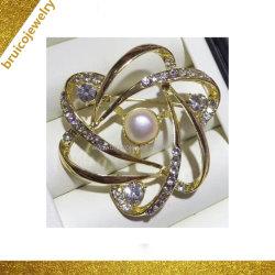 고급 보석 제조업체 14K 로즈 골드 로듐 다이아몬드 보석 브로크 여성용