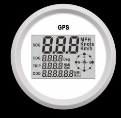 GPS étanche 85mm tachymètre numérique Jauge du compteur kilométrique pour auto voiture camion Marine