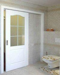 Insonorisées étanche moderne en bois Portes intérieures à battants en aluminium de couleur pour salle de bain WC YG-T006