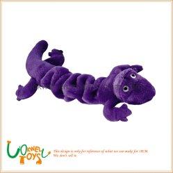 Giocattolo molle del cane di animale domestico del giocattolo dei giocattoli degli animali farciti del Gecko della peluche