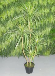 Réaliste Dracaena Fragrans arbre artificiel plante dans le semoir en plastique pour le décor intérieur/extérieur