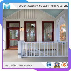 China-Lieferant Belüftung-hölzerner doppelter glasig-glänzender Flügelfenster-Windows-Entwurf