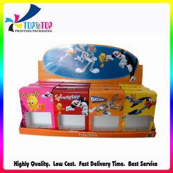 Compteur d'exposition de papier ondulé personnalisée Mémoriser Afficher boîte en carton titulaire pour la collation de jouets