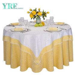Luxury toalhas de mesa redonda moderna decoração de casamento