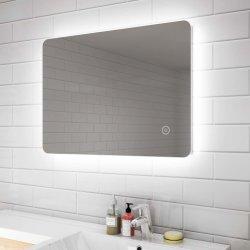 Usine de gros monté sur un mur miroir lumineux à LED de rétroéclairage Salle de bains avec châssis en aluminium