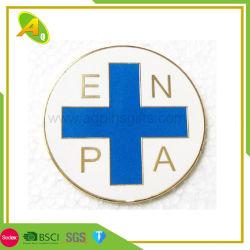 Vendita della fabbrica nessun distintivo di Keychain del metallo dell'argento/oro di MOQ con il Pin del diamante (253)
