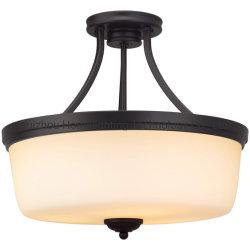 Jlc-H17 de semi-vloed zet de 3-lichte Lamp van het Plafond met de Berijpte Schaduw van het Glas op