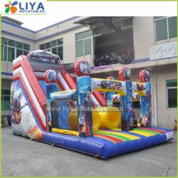 Piscina Super herói Slide insufláveis com obstáculos Bouncer