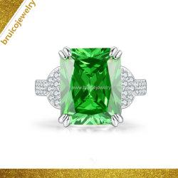 Mode de luxe bijoux en diamants 925 Sterling Silver Gemstone bijoux 9K 14K or 18K bague de mariage