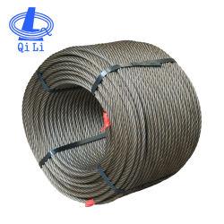 結び、不良部分のための工場6X24+7FC Ungalvanized鋼線ロープ