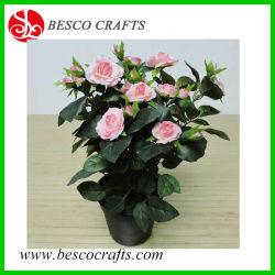 35cm 남비를 가진 인공적인 장미 덩굴 직물 꽃