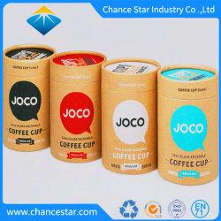 習慣によって印刷されるコーヒーカップの包装のペーパーボール紙の筒