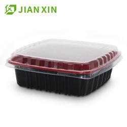 La comida de microondas de plástico contenedores Contenedor de almacenamiento de alimentos los alimentos
