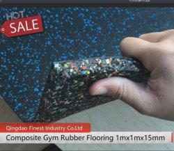 La Chine usine de caoutchouc de gros de la salle de gym Tapis de sol carrelage, tapis en caoutchouc Fitness-de-chaussée, le caoutchouc Tapis pour salle de Gym Fitness mosaïque des revêtements de sol