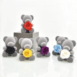 الدب الوردي المصان الحقيقي - هدية وردة هدية من الزهور اليومدية الصنع هدية من الزهور اليكعة يدويا في عيد ميلادها، عيد الميلاد، عيد الأم، عيد الحب